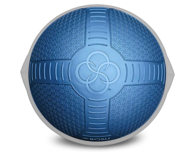 Image d'une BOSU. Accessoire idéal pour les exercices de proprioception